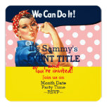 It's Your Personalised Rosie Party Supply 13 Cm X 13 Cm Square Invitation Card