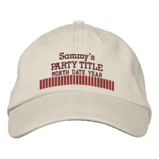 It's Your Personalized Party Hat Popcorn Style Embroidered Hat