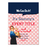 It's Your Rosie Party 12 lines 2 sided insert 11 Cm X 16 Cm Invitation Card
