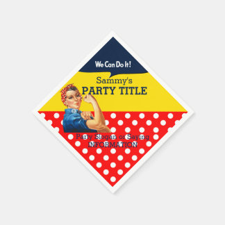 It's Your Rosie Party Napkins Personalize This Paper Serviettes
