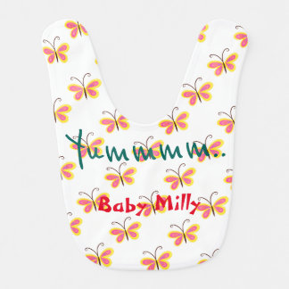 It's yumm for baby colorful butterfly Baby Bib