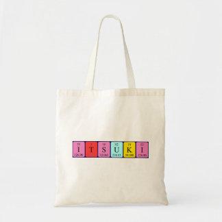 Itsuki periodic table name tote bag