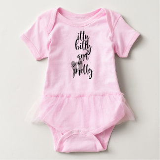 Itty Bitty and Oh So Pretty Baby Girl Vest Baby Bodysuit