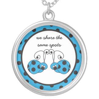 Itty Bitty Blue Ladybug Best Friends Necklace