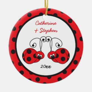 Itty Bitty Ladybug Couple Ornament