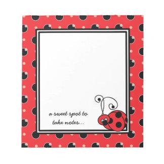 Itty Bitty Ladybug Notepad - Red