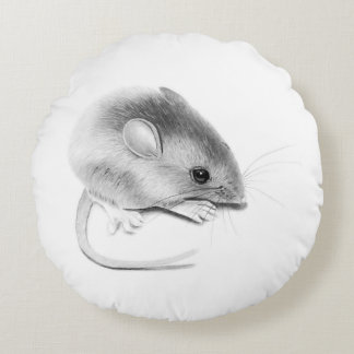 Itty Bitty Mouse Round Cushion