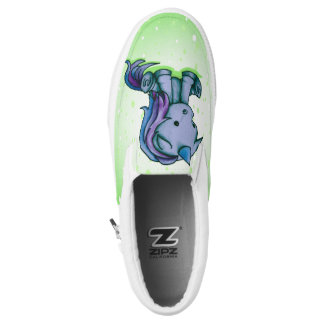 itty bitty unicorn slip on shoes