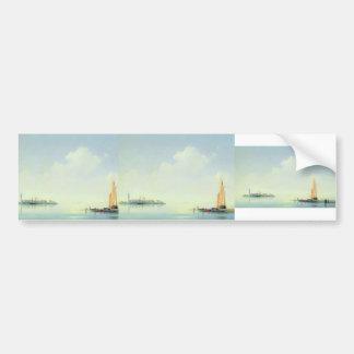 Ivan Aivazovsky-Harbour of Venice island Bumper Stickers