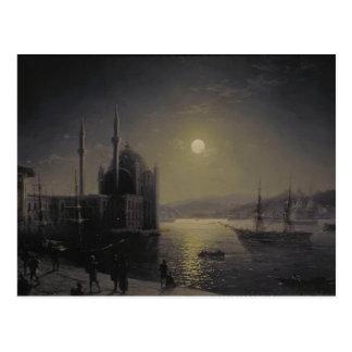 Ivan Aivazovsky- Moonlit Night on the Bosphorus Postcard