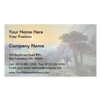 Ivan Aivazovsky- Pushkin at top ,Ai-Petri Mountain Business Card Template