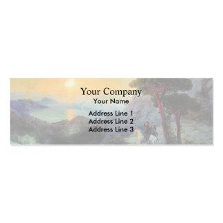 Ivan Aivazovsky- Pushkin at top ,Ai-Petri Mountain Business Card Templates