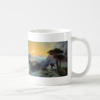 Ivan Aivazovsky- Pushkin at top ,Ai-Petri Mountain Coffee Mugs