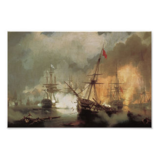 Ivan Aivazovsky- The Battle of Navarino Posters