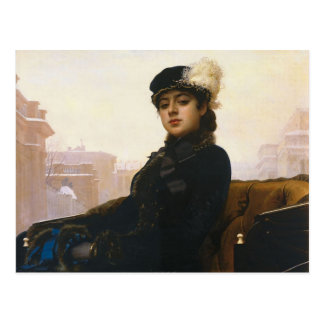 Ivan Kramskoi - Portrait of an unknown woman Postcard