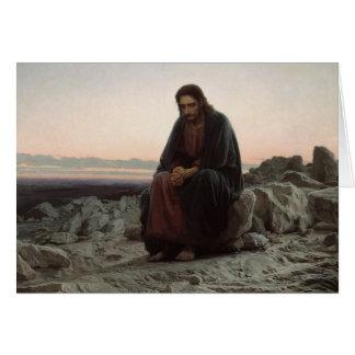 Ivan Kramskoy- Christ in the Wilderness Card