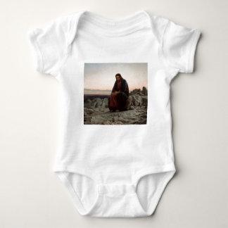 Ivan Kramskoy- Christ in the Wilderness- Fine Art Baby Bodysuit