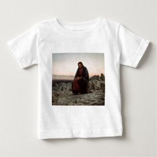 Ivan Kramskoy- Christ in the Wilderness- Fine Art Baby T-Shirt