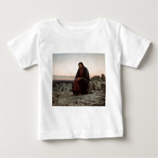 Ivan Kramskoy- Christ in the Wilderness - Fine Art Baby T-Shirt