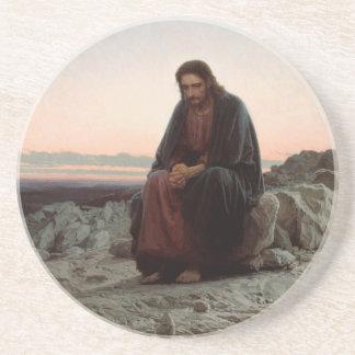 Ivan Kramskoy- Christ in the Wilderness- Fine Art Coaster