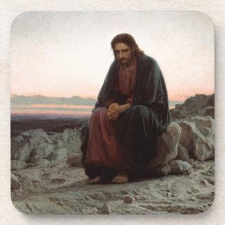 Ivan Kramskoy- Christ in the Wilderness - Fine Art Coaster