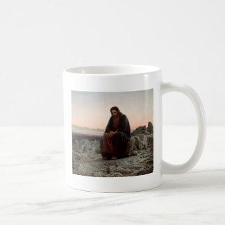 Ivan Kramskoy- Christ in the Wilderness - Fine Art Coffee Mug