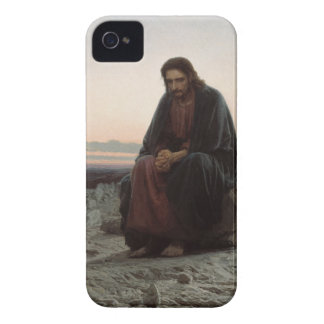 Ivan Kramskoy- Christ in the Wilderness - Fine Art iPhone 4 Case-Mate Case