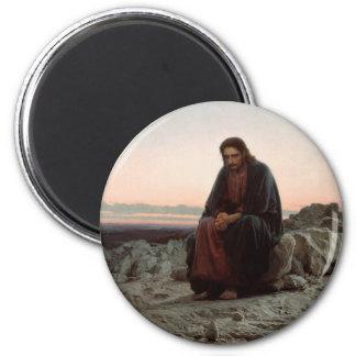 Ivan Kramskoy- Christ in the Wilderness - Fine Art Magnet