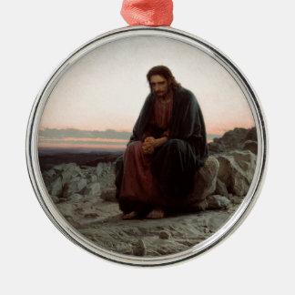 Ivan Kramskoy- Christ in the Wilderness - Fine Art Metal Ornament