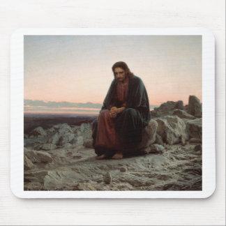Ivan Kramskoy- Christ in the Wilderness - Fine Art Mouse Pad