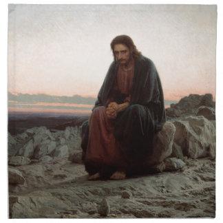 Ivan Kramskoy- Christ in the Wilderness - Fine Art Napkin