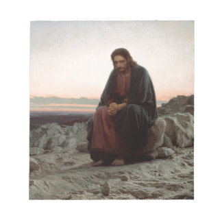 Ivan Kramskoy- Christ in the Wilderness- Fine Art Notepad