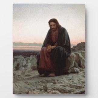 Ivan Kramskoy- Christ in the Wilderness- Fine Art Plaque