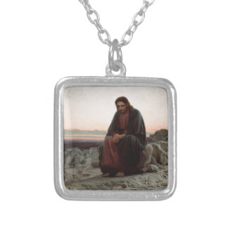 Ivan Kramskoy- Christ in the Wilderness - Fine Art Silver Plated Necklace