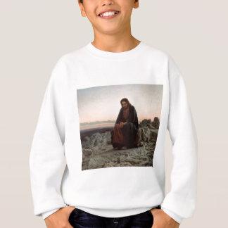 Ivan Kramskoy- Christ in the Wilderness - Fine Art Sweatshirt