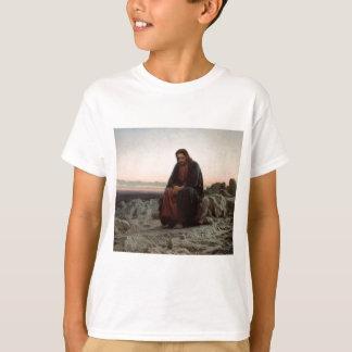Ivan Kramskoy- Christ in the Wilderness- Fine Art T-Shirt