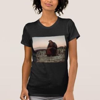 Ivan Kramskoy- Christ in the Wilderness - Fine Art T-Shirt