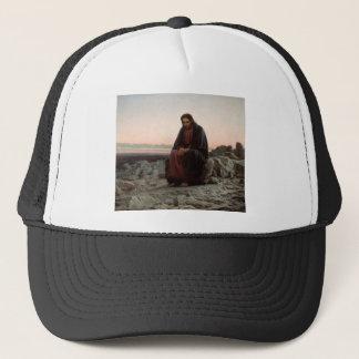 Ivan Kramskoy- Christ in the Wilderness - Fine Art Trucker Hat