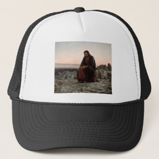 Ivan Kramskoy- Christ in the Wilderness- Fine Art Trucker Hat