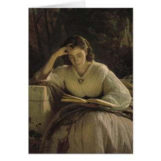 Ivan Kramskoy- Reading Card