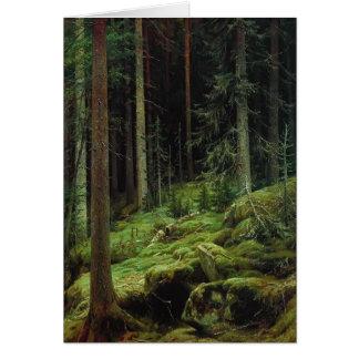 Ivan Shishkin- Thickets Card