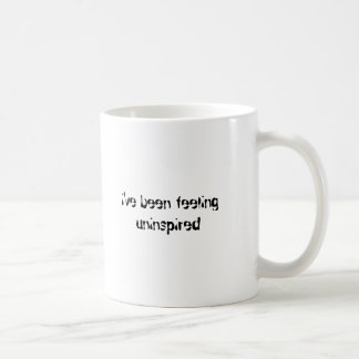i've been feeling uninspired basic white mug
