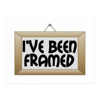I've Been Framed Postcard