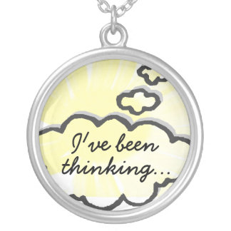 I've been thinking round pendant necklace