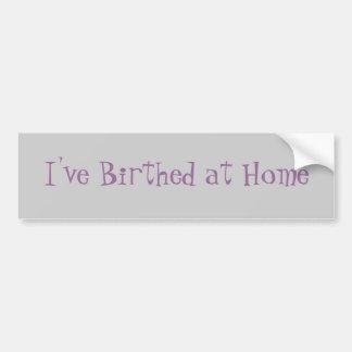 I've Birthed at Home Bumper Sticker
