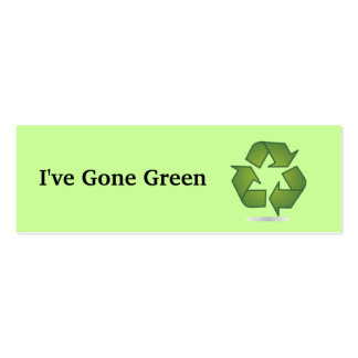 I've Gone Green Bookmark Business Card Template