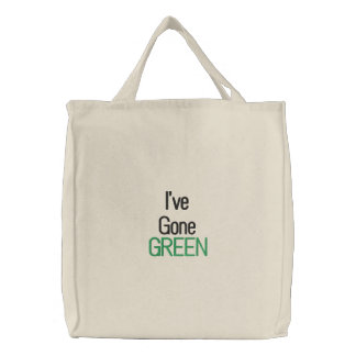 I've Gone Green Embroidered Bags