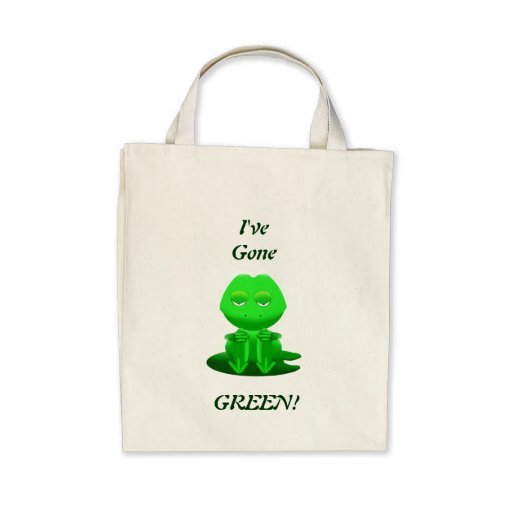 I've Gone Green Grocery Tote Canvas Bag