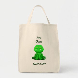 I've Gone Green Grocery Tote Grocery Tote Bag