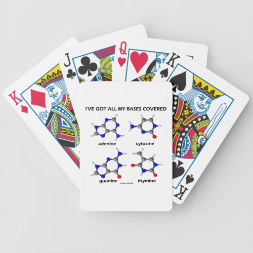 I've Got All My Bases Covered DNA Nucleotide Base Bicycle Card Decks